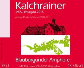 Etikett Blauburgunder Amphore